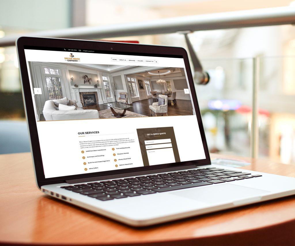 Dream house carpentry web design mississauga for Dream house website